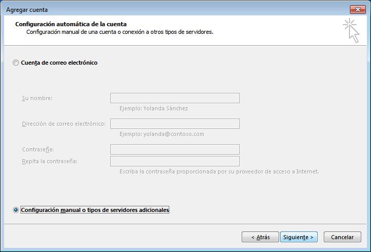 paso 2 configuración Outlook 2010