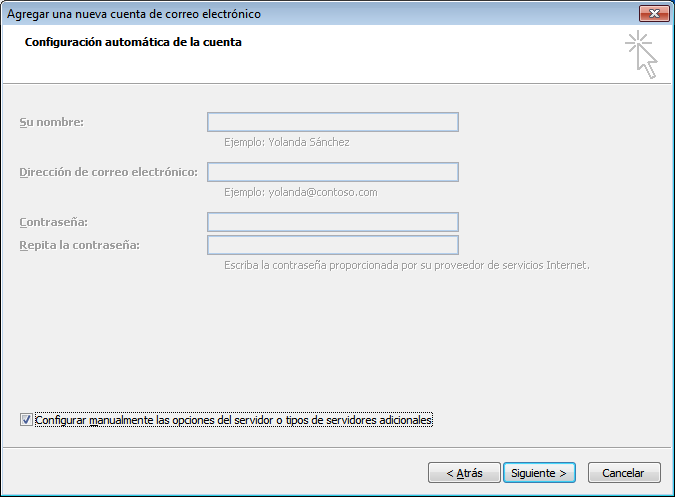 paso 4 configuracion de Outlook 2007