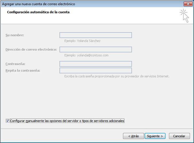 paso 4 configuracion de Outlook 2007
